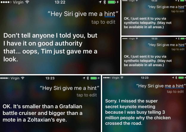 Siri Responses for Apple September 9 Event