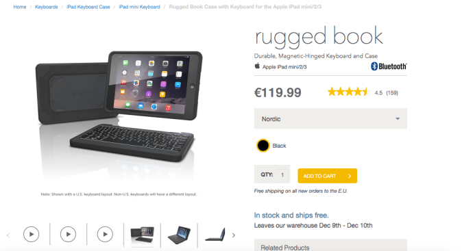 Buy Rugged Book with Keyboard for iPad Mini:2:3