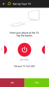 Pointing Phone to the TV