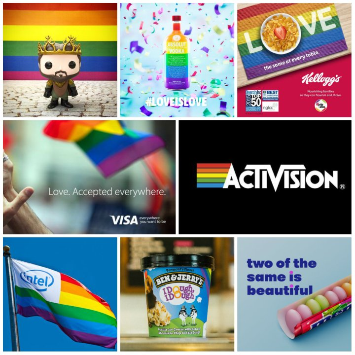 Rainbow Flag, From White House and celebrities to major brands