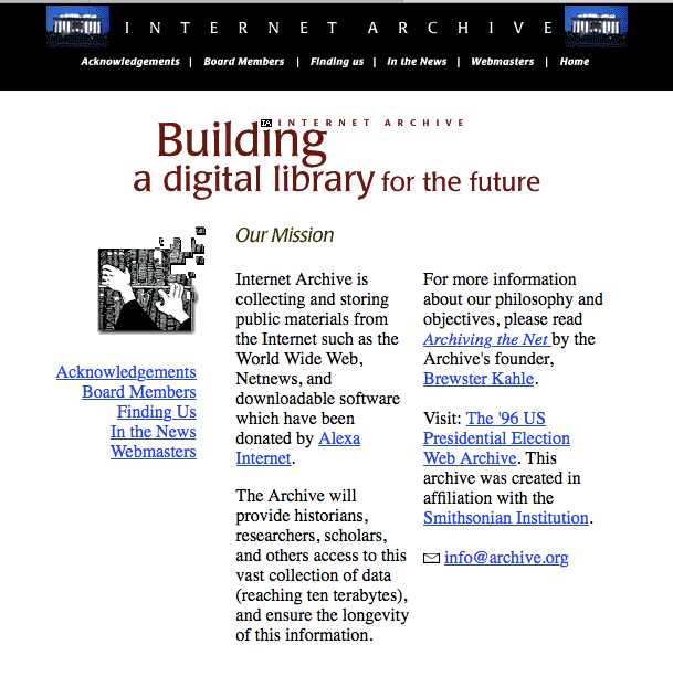 archive.org nel 1997