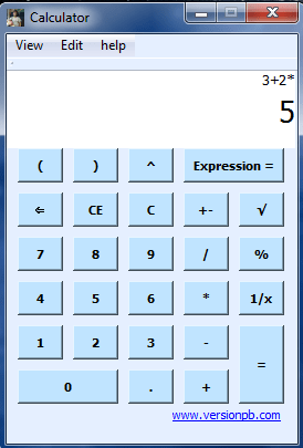 BODMAS Calculator showing 3 + 2 x 5