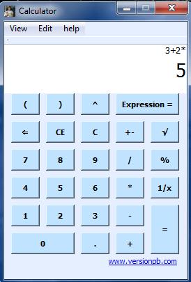 BODMAS Calculator showing 3 + 2 x 5