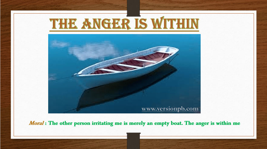 The Anger is Within