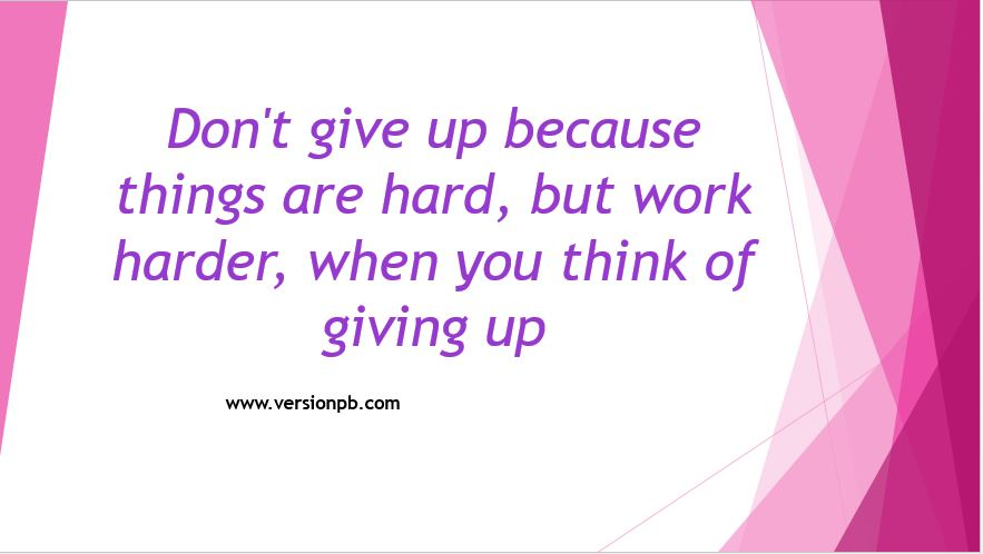 One Liner Quote - Hard Work