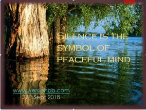 One Liner Quote on Silence