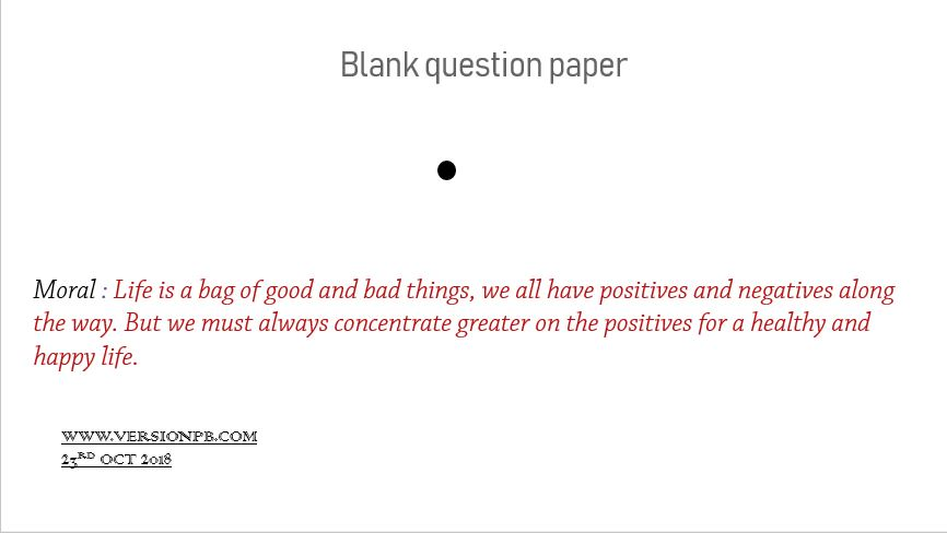 Short Story on Blank Question paper