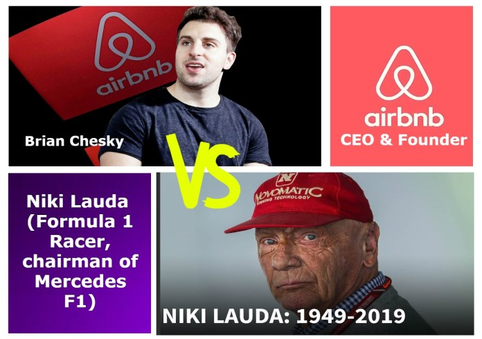 Brian Chesky (CEO of Airbnb) vs Niki Lauda (chairman of Mercedes F1) Net worth, Biography, Wife, Height, Salary, Wiki and More