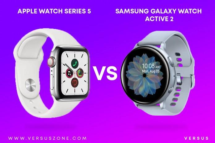 Apple Watch 5 vs Galaxy Watch Active 2   Which smartwatch is best ?