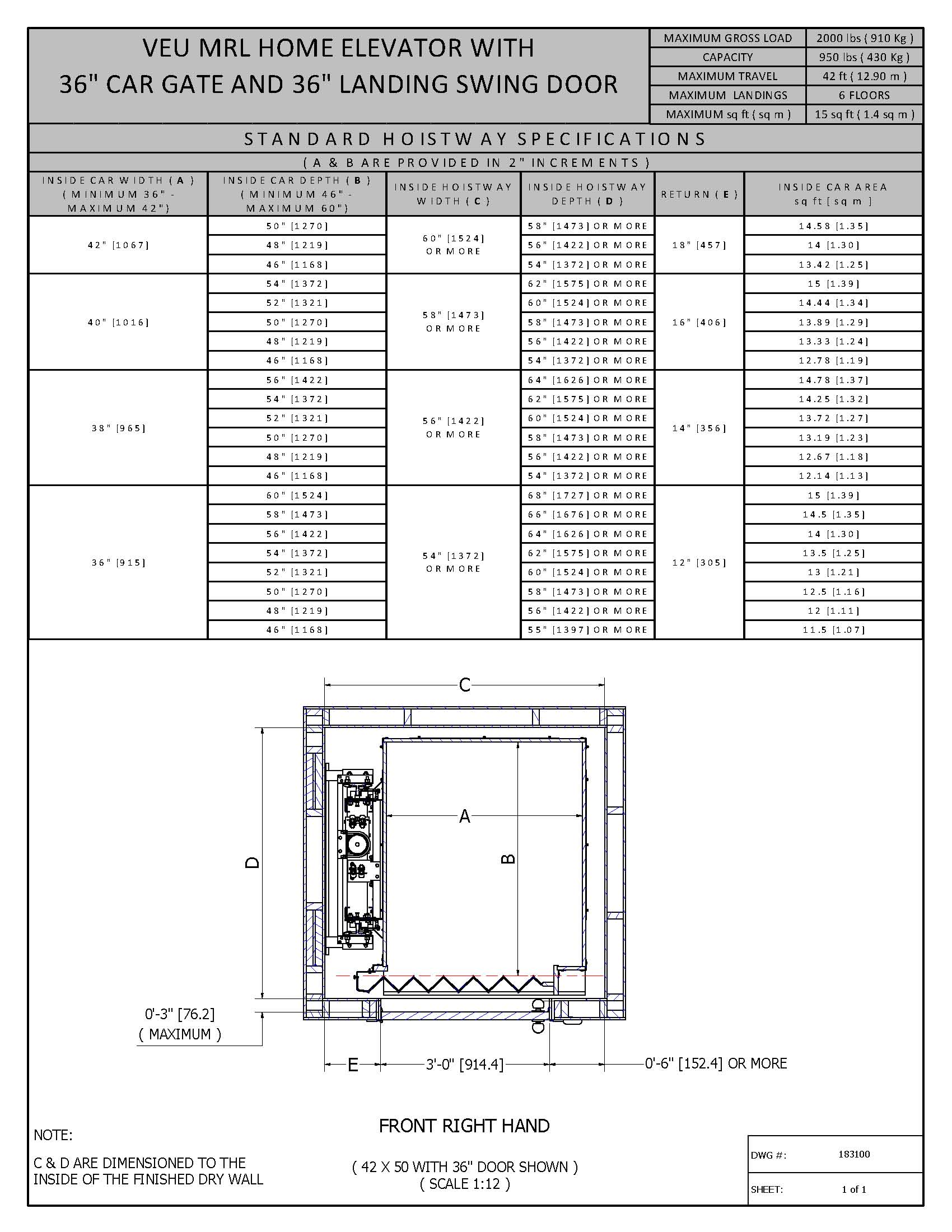 Elevator Door Dimensions And Dimensions Table To Images