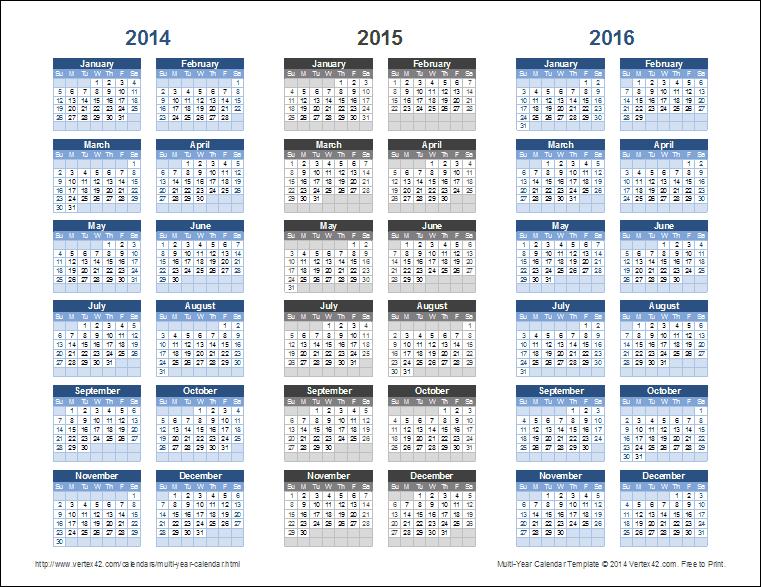 calendar layout in excel