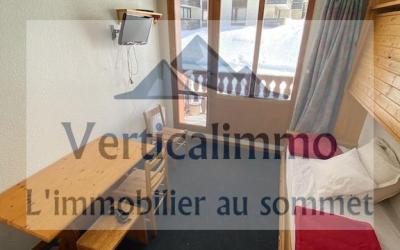 Vente Studio meublé au Centre de Tignes Val Claret au pied du Funiculaire – Ref 2020-02B