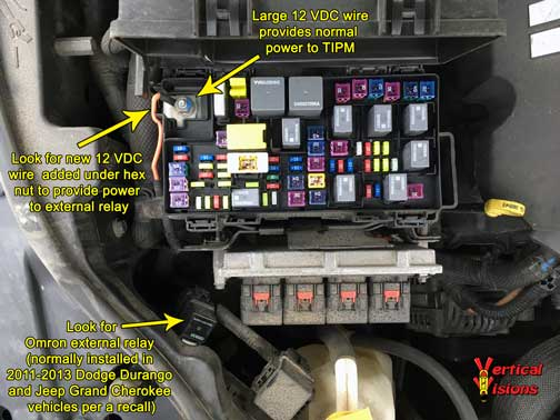 2007 chrysler sebring wiring diagram yamaha golf cart tipm relays - external vertical visions