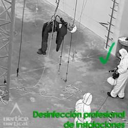 Desinfección profesional de instalaciones