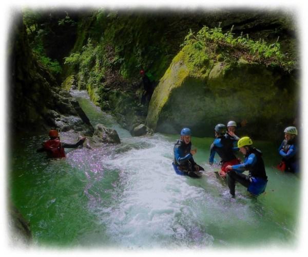 Canyoning d'Angon à Annecy avec Vertige Concept