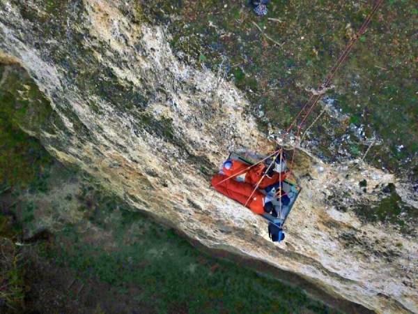 Vue aérienne d'un portaledge