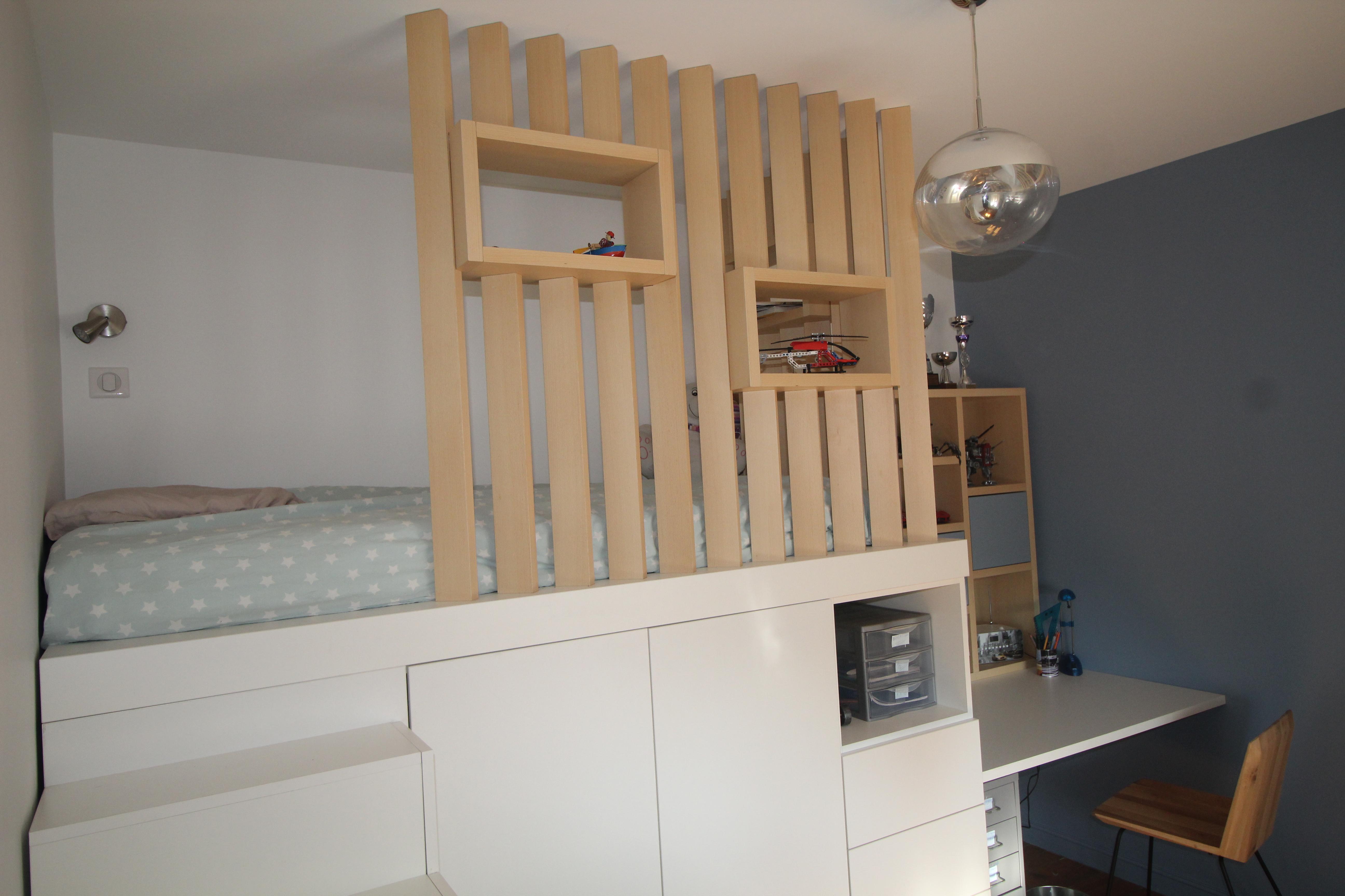 Amnagement dune chambre dadolescent avec un lit cabane en hauteur  Vertinea