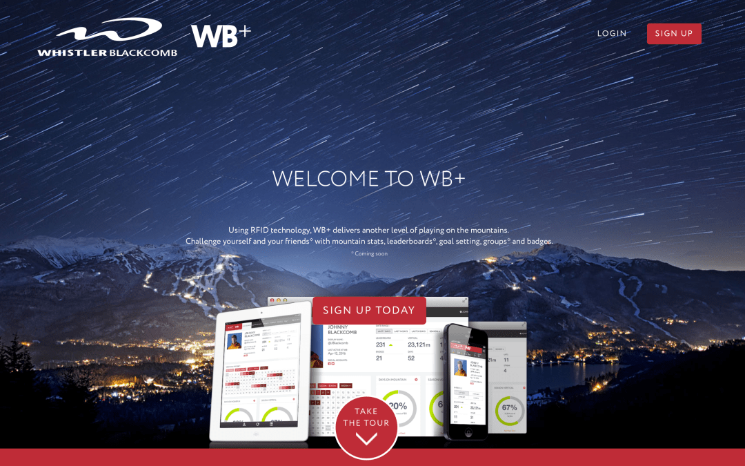 Vert Solutions releases WB+ for Whistler Blackcomb.