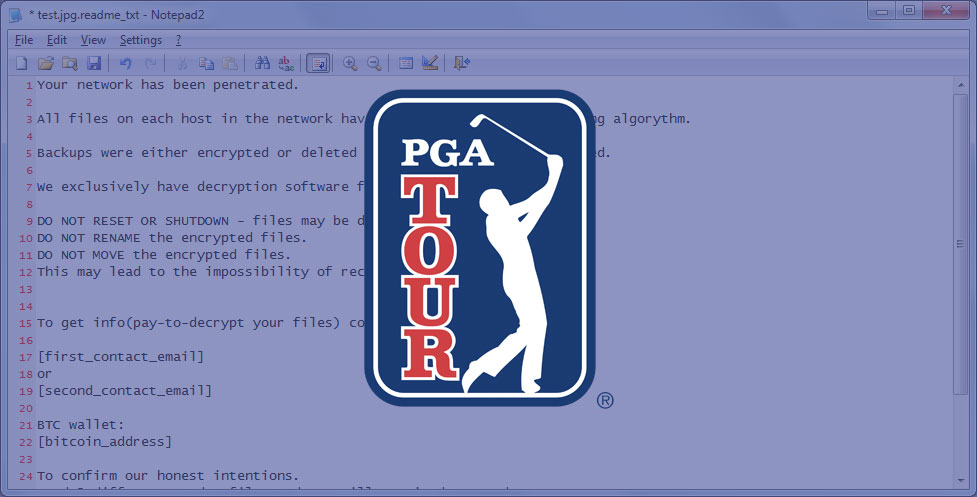 PGA Computers Hit By Ransomware Infection