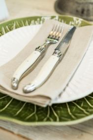 Laguoile table knives $94 (for set of 6) and table forks $96 (for a set of 6)