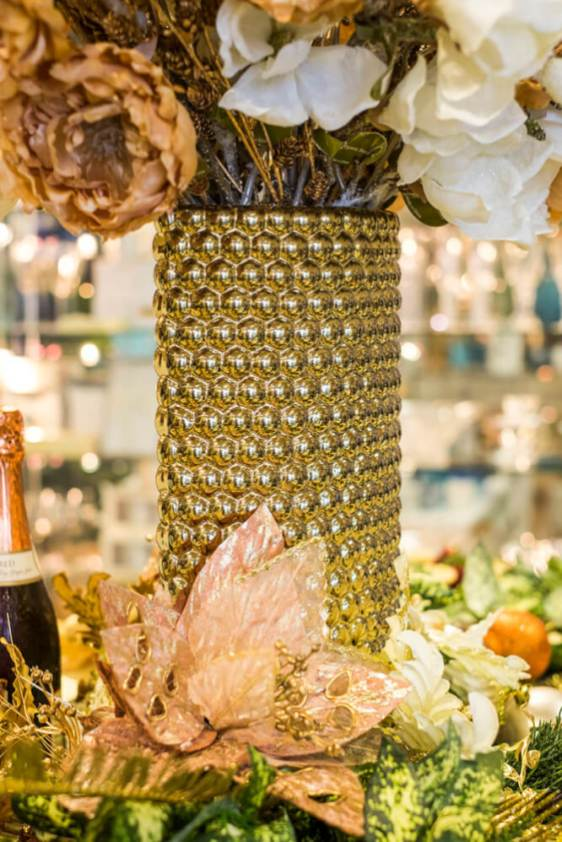What's perfect about using gold, blush and amber tones for your festive season is that they are great as your daily décor after the silly season.