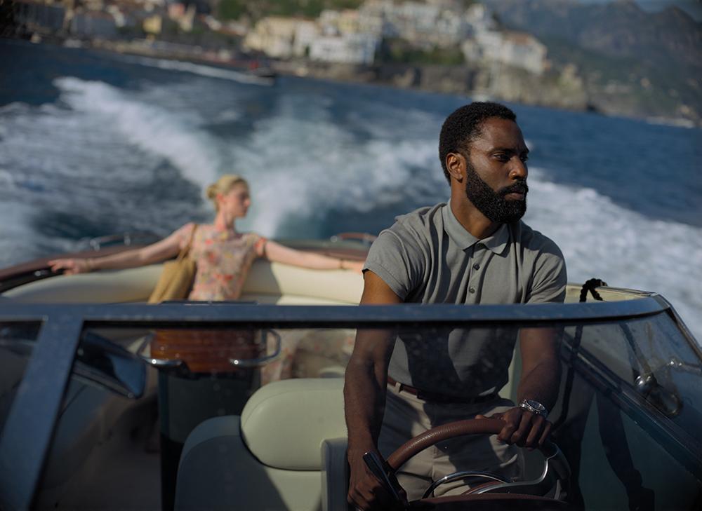 ELIZABETH DEBICKI and JOHN DAVID WASHINGTON in Warner Bros. Pictures' action epic TENET, a Warner Bros. Pictures release