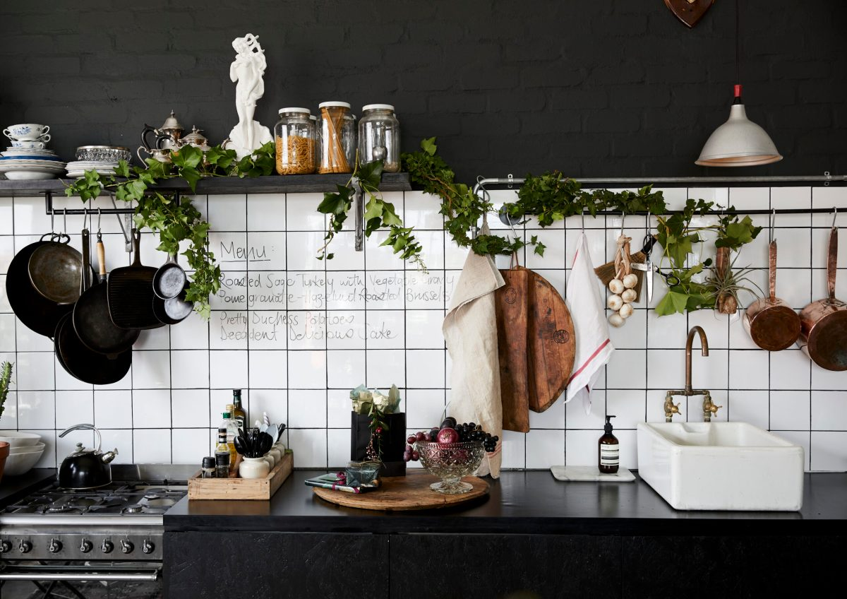 Black Magic Christmas Kitchen