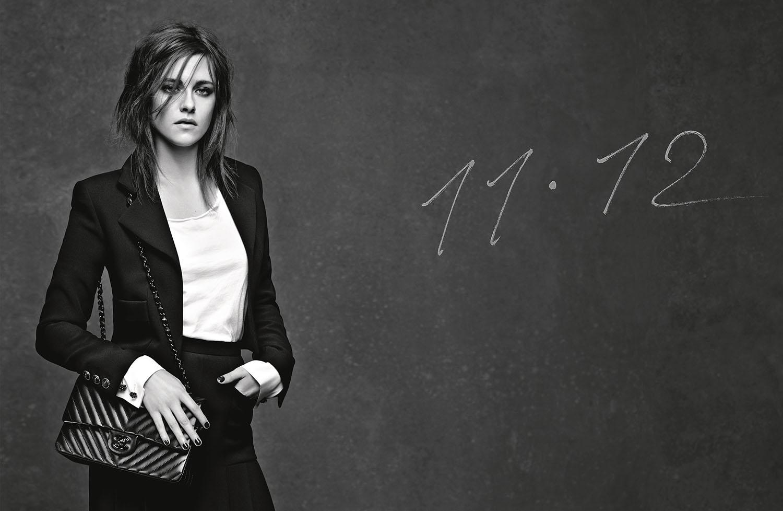 Kristen Stewart ad campaign for chanel 11.12 handbag by karl lagerfeld