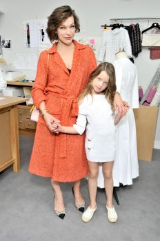 Milla Jovovich and daughter, Ever