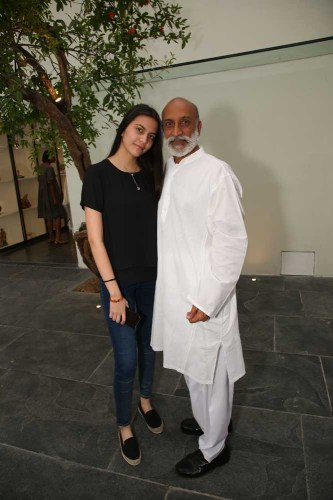 Aman Nath with daughter