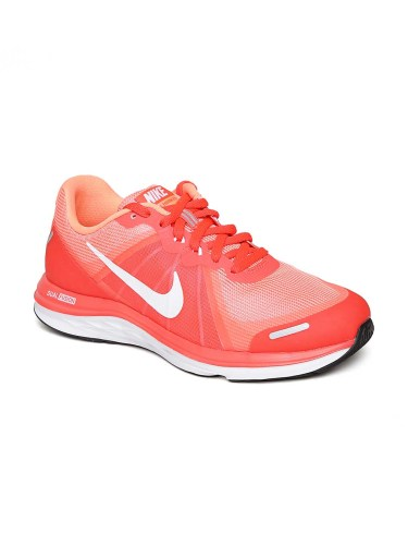 Nike's Coral Neon Orange Dual Fusion X 2 Running Shoes