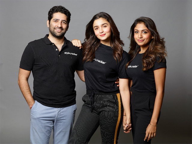 Stylecracker founders Dhimaan Shah and Archana Walavalkar with new investor, Alia Bhatt