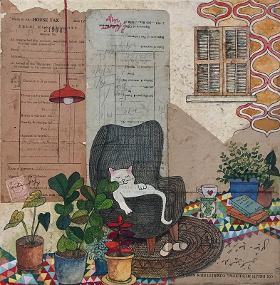 Artwork by Bakula Nayak for Intimate Strangers