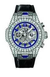Hublot: Big Bang UNICO White diamonds and blue sapphires