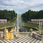 Known as the Russian Versailles, Peterhof is famous for its ensemble of fountains, more specifically the Grand Cascade seen here.