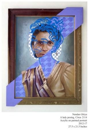 A lady posing, c. 2114