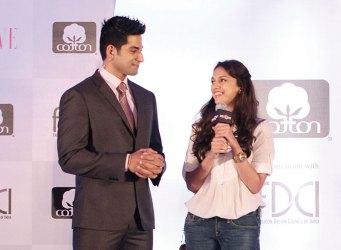 Actors Vivan Bhathena and Aditi Rao