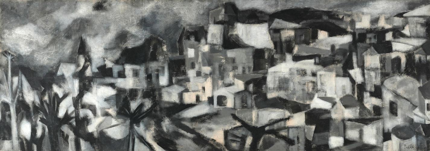 Akbar Padamsee's 1960 painting Greek Landscape