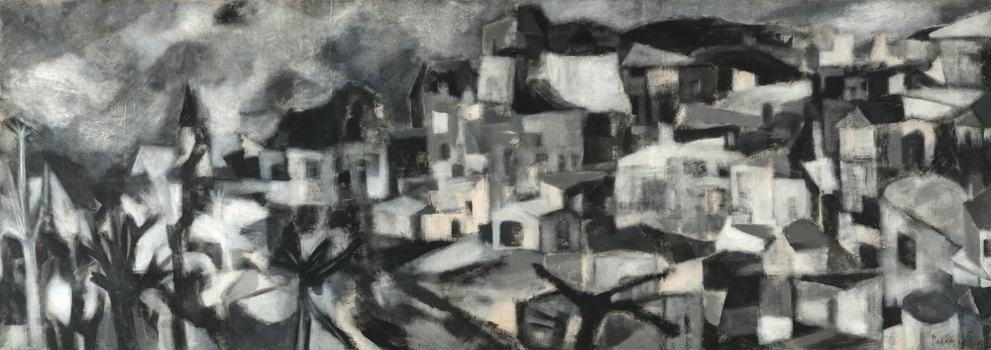 Akbar Padamsee's 1960 painting Greek Landscape, sold at 19.19 crore rupees in September 2016, fetching a record price for the artist