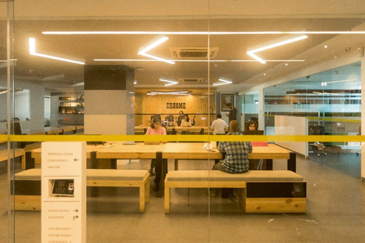 The open-plan workspace