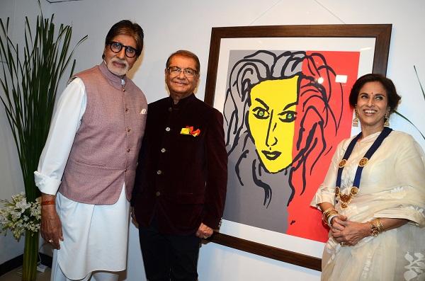Amitabh Bachchan, Dilip and Shobhaa De