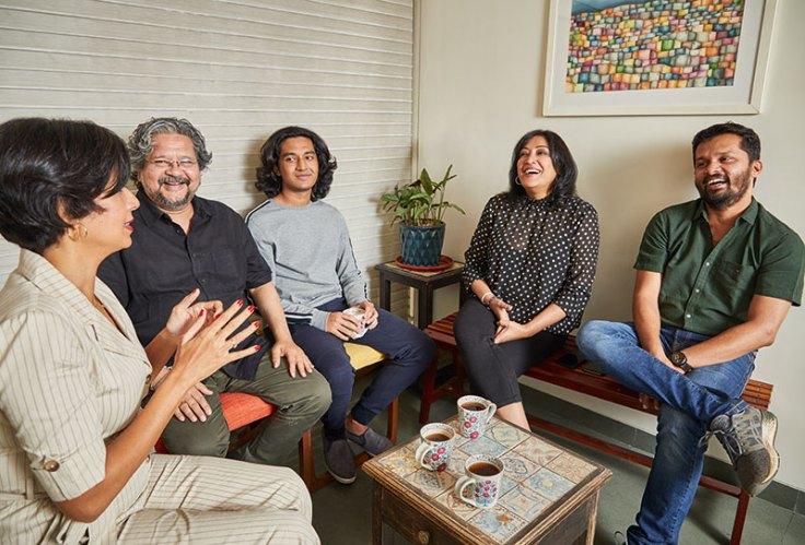 Clockwise from left: Divya Jagdale, Amole Gupte, Partho Gupte, Deepa Bhatia, Amol Gole