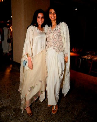 Anamika Khanna with Tina Tahiliani Parikh