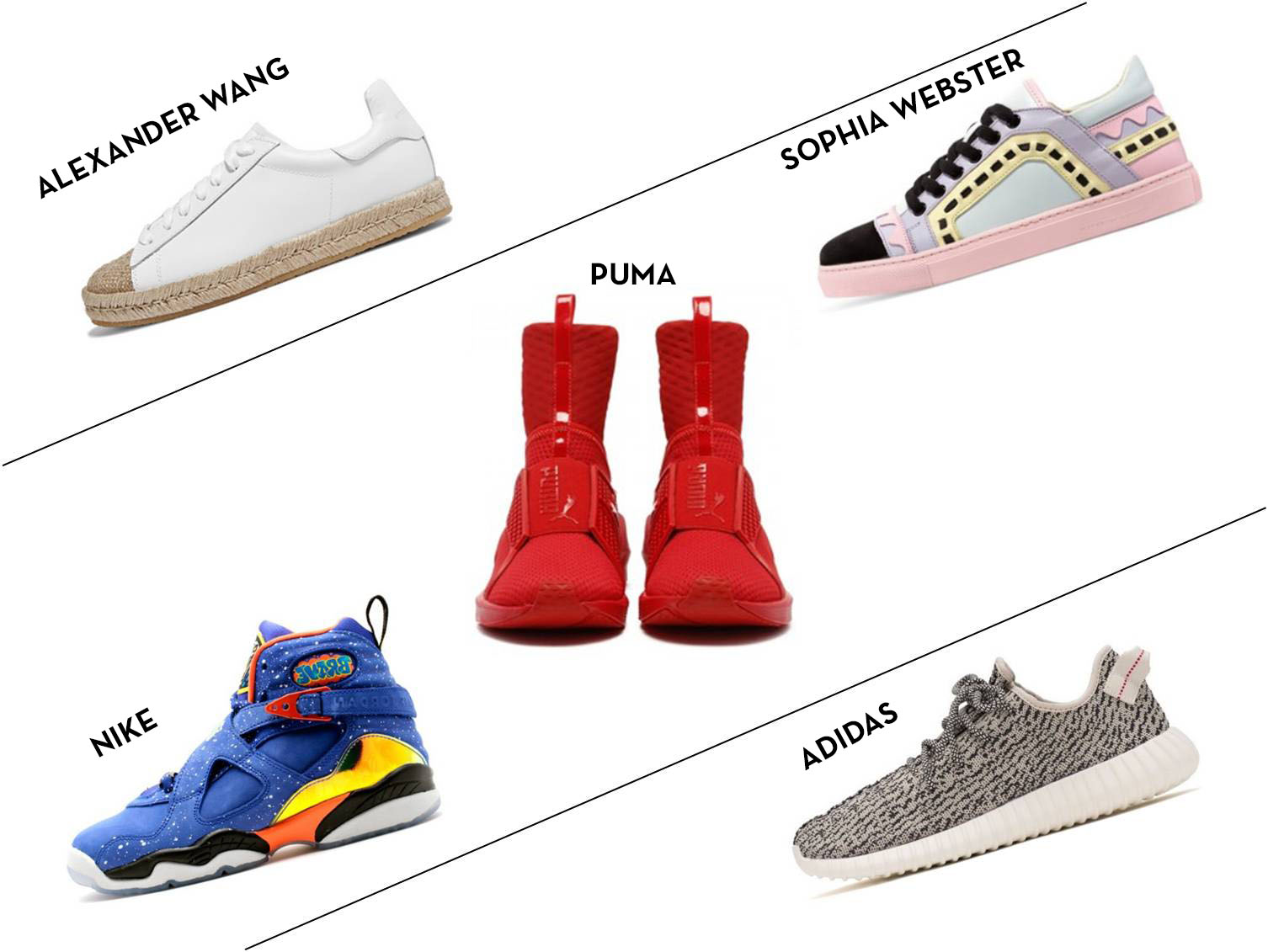d1345bc7766b From left to right  Alexander Wang leather espadrilles