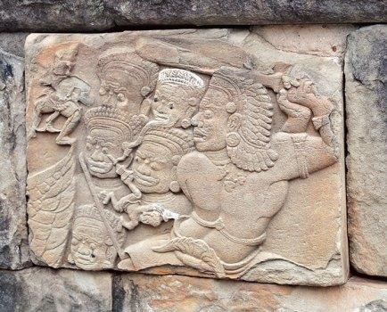 Bakong panel, lost soul falling among demons