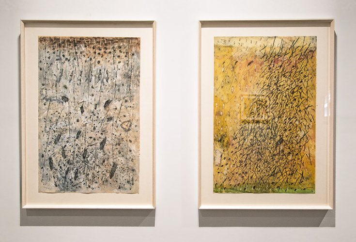 """Untitled, pastel and poster paint on paper, 27.75"""" x 19.75"""" (each of 2), 1980"""