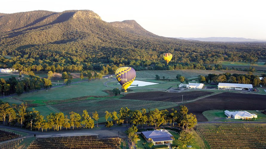 Ballooning over the hunter valley landscape