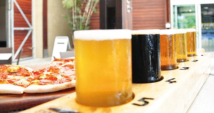 Beer tasting, Mount Tambourine Brewery