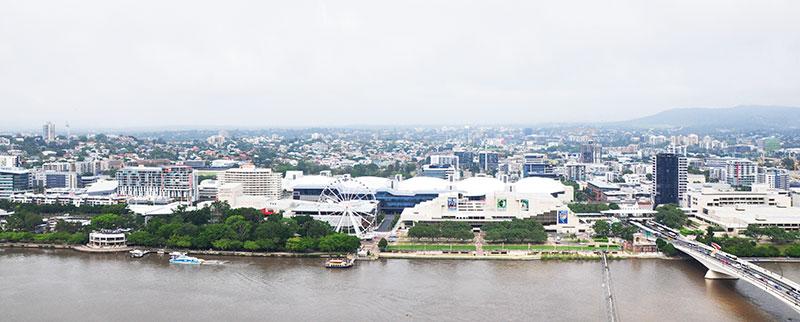 Panoramic view of South Bank, Brisbane