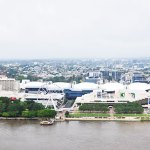 Australia Queensland Brisbane travel South Bank view panorama river cruise